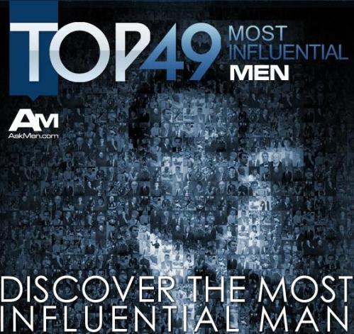 "AskMen's most ""influential"""