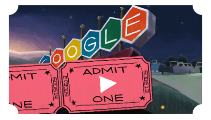 Google Doodle Anniversary First Drive-In Movie