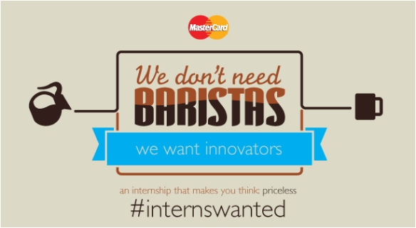 Ad for MasterCard Intern