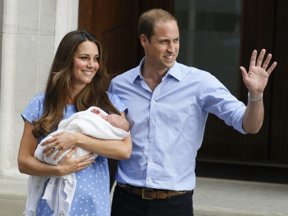 Prince William and Princess Kate with son Prince George