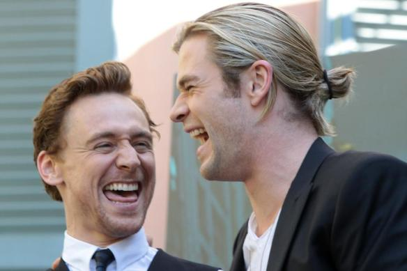 Chris Hemsworth and Tom Hiddleson