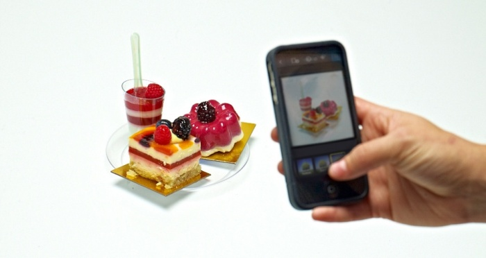 Picture of a picture of food