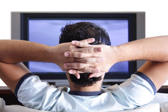 Man watching television