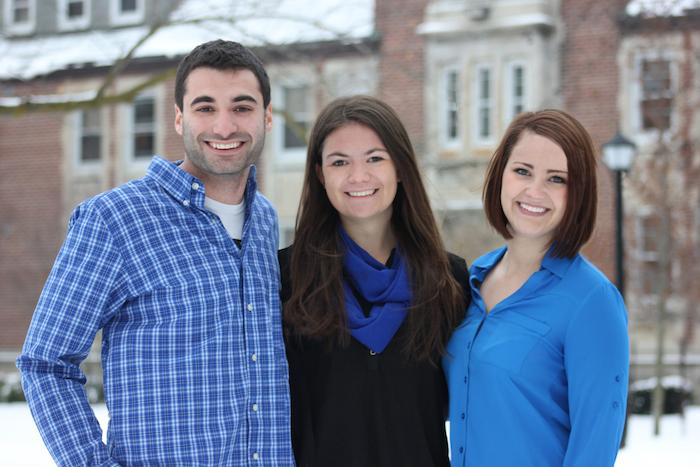 Matt Helfand, Emily Addison, and Jen Carter of Team Helfand