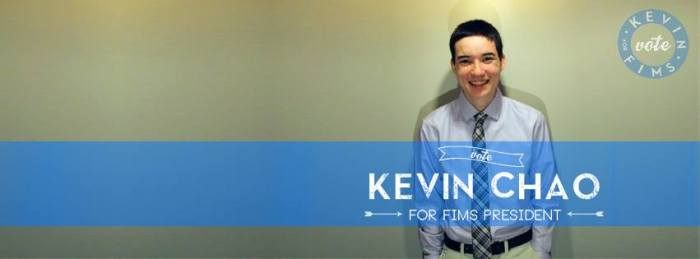 Kevin Chao for FIMS President Poster